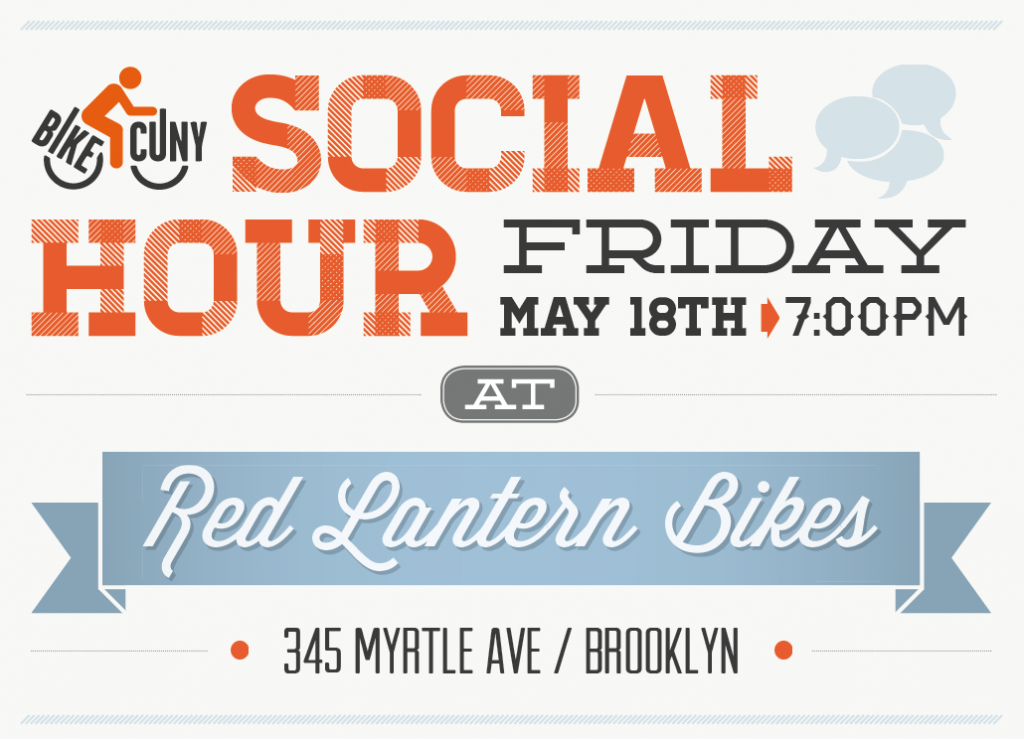 Flyer for bikeCUNY Social Hour on Friday, May 18, 2012